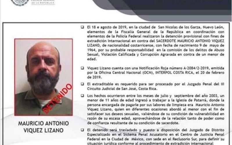 Cae en México cura pedarasta; lo detectan por su red social