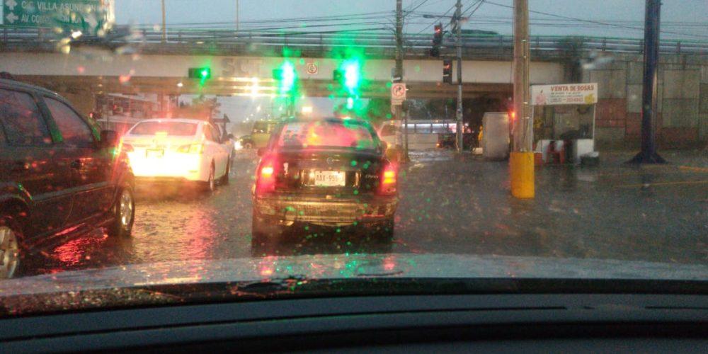 Lluvias afectan el Sur y zona Centro de la ciudad