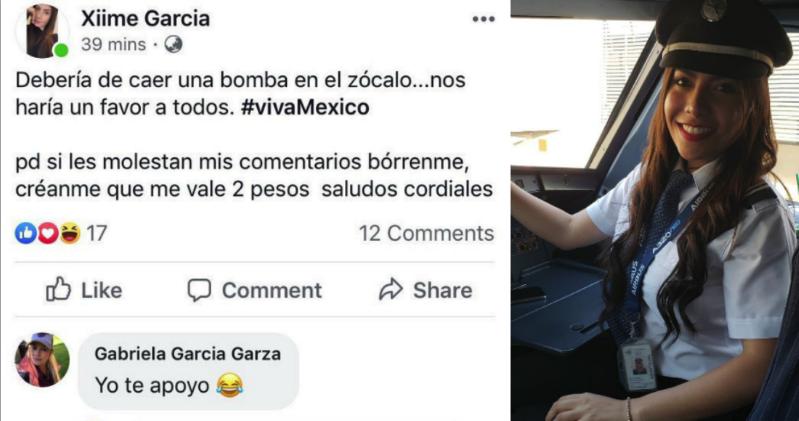 Empleada de Interjet propuso lanzar bomba en el Zócalo durante festejos patrios