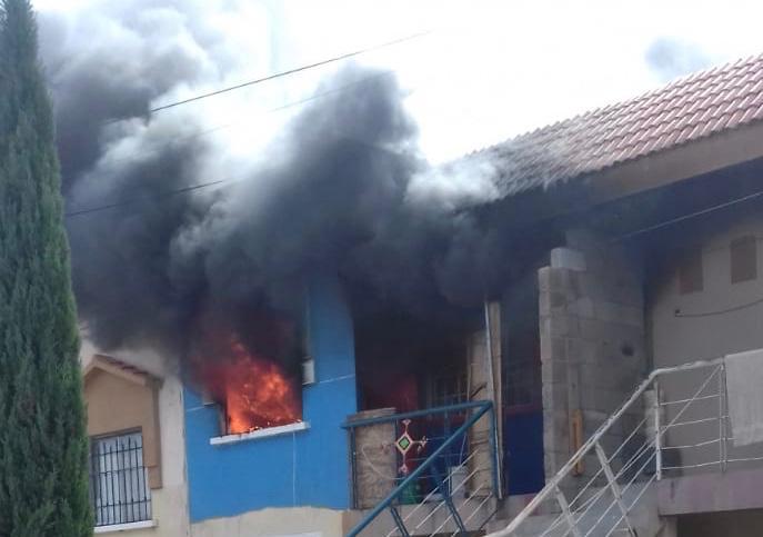 Se registra incendio en Villas de las Fuentes en Aguascalientes
