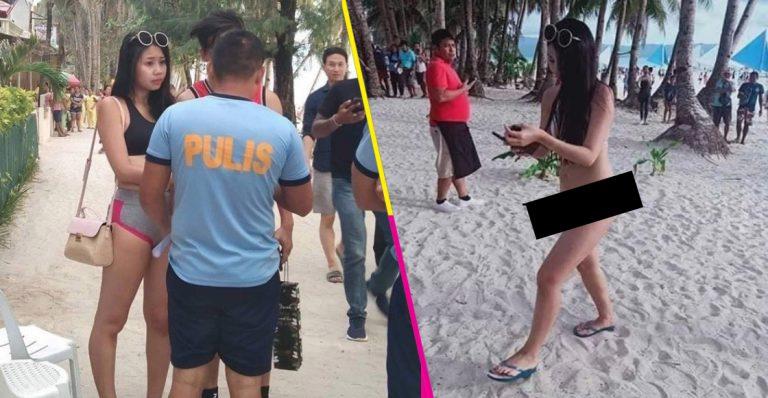 "Mujer es detenida por mostrar ""diminuto bikini"" en Filipinas"