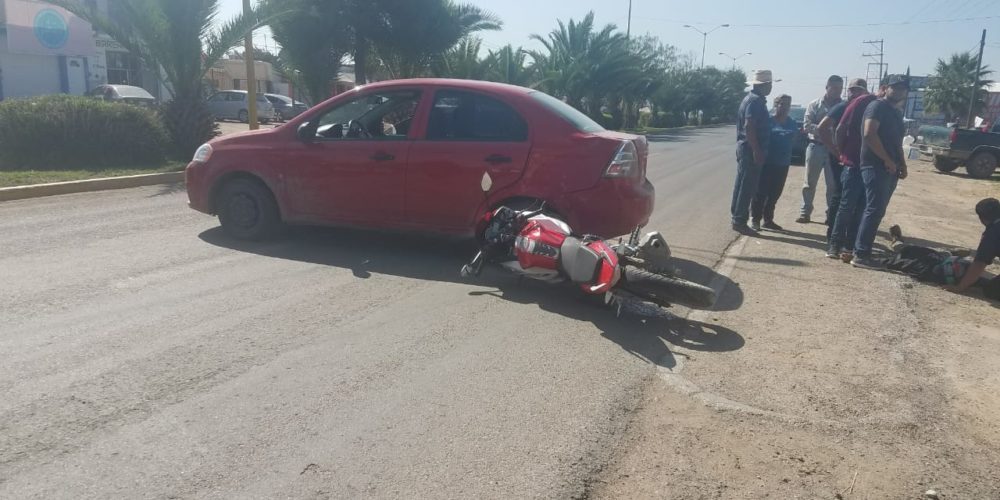 Motociclista lesionado en accidente en Asientos