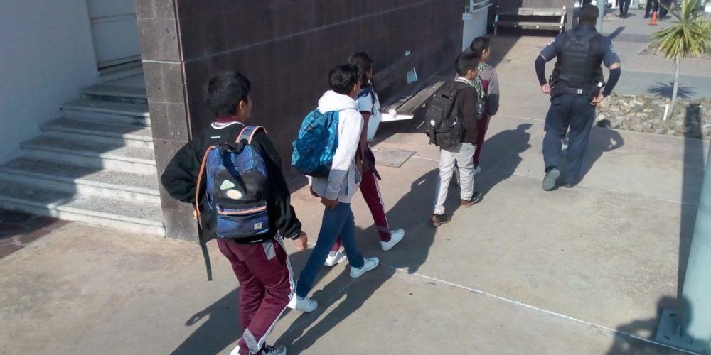 Por destroyers, detienen a seis adolescentes en Aguascalientes