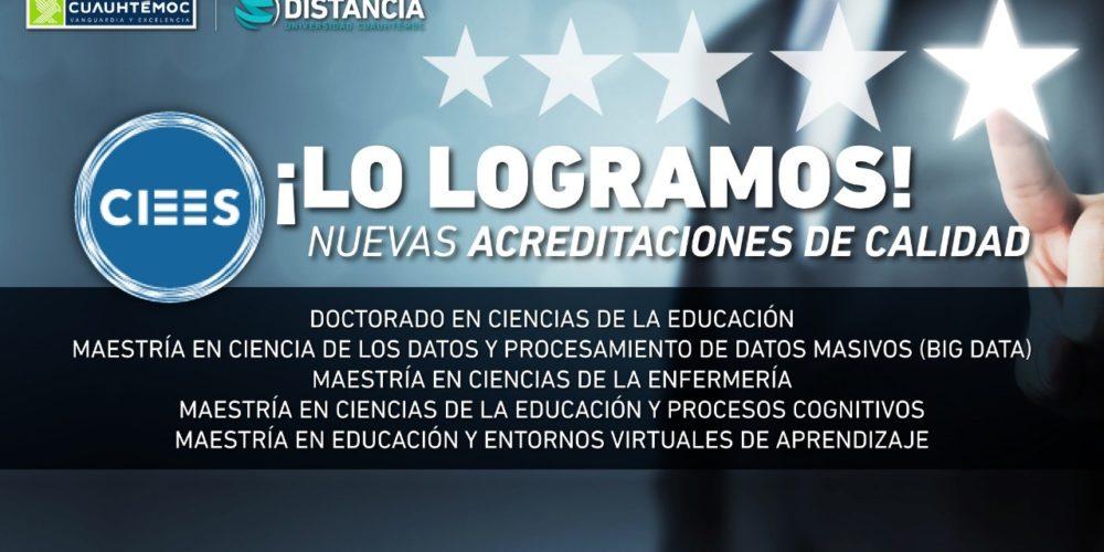 Acreditan programas de educación a distancia de la Universidad Cuauhtémoc
