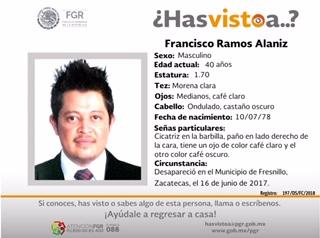 Buscan en Aguascalientes a Francisco, desapareció en Zacatecas