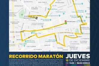 Anuncian operativo vial con motivo del maratón Guadalupano