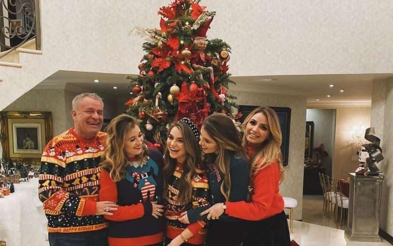 La Gaviota y el Güero Castro pasaron juntos navidad al lado de sus hijas