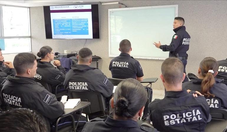 Elementos de la Guardia Nacional capacitan a policías de Aguascalientes