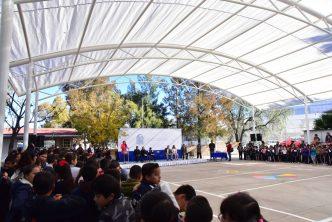 Escuela primaria Miguel Ángel Barberena Vega estrena velaria