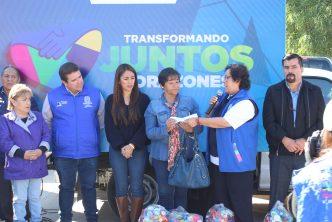 """Entregan apoyos del programa """"Transformando Juntos Corazones"""" en el municipio de Aguascalientes"""