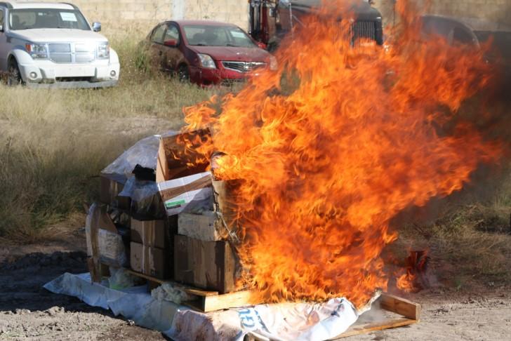 FGR Aguascalientes incinera 50 mil pastillas y narcóticos