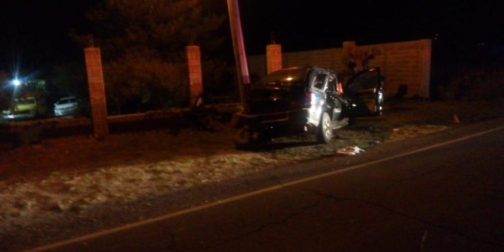 1 muerto y 2 heridos deja accidente en San José de Gracia, Aguascalientes
