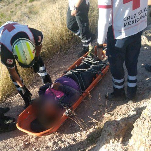 Sufre caída mujer en el Cerro del Picacho en Aguascalientes