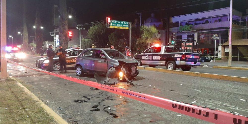 1 muerto y 2 heridos deja choque en Avenida Colosio en Aguascalientes