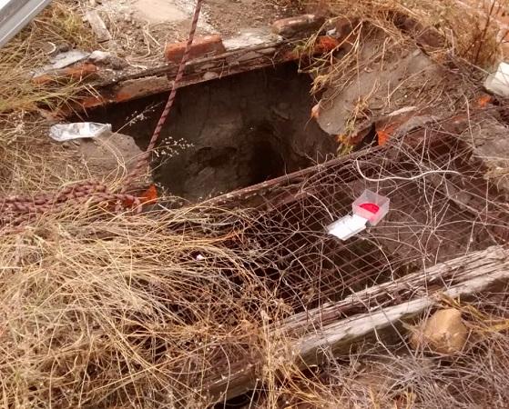 Rescatan a anciano que cayó a una fosa de 4 metros en Aguascalientes