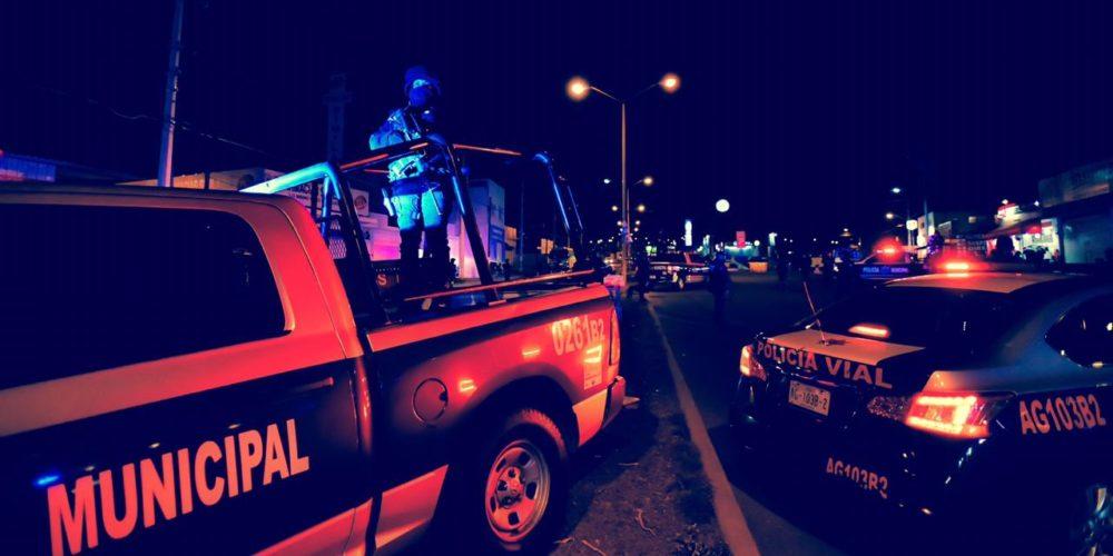 Activan operativo de seguridad y alcoholímetro en Aguascalientes