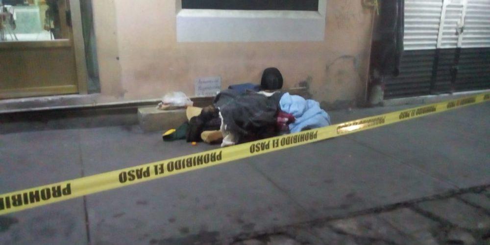 Presuntamente por frío muere indigente en Aguascalientes