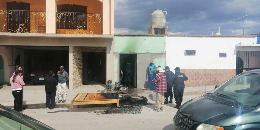 Se registra incendio domiciliario en El Llano, Aguascalientes