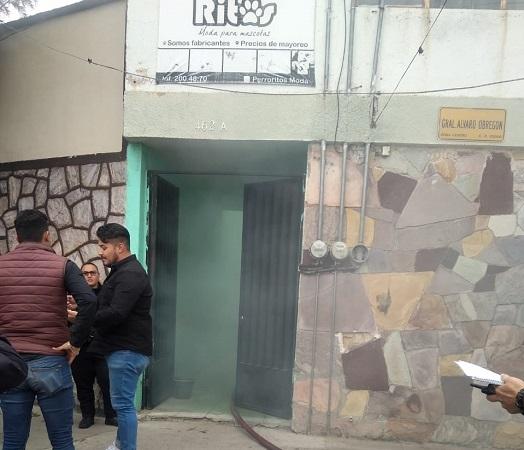 Se registra incendio domiciliario en centro de Aguascalientes