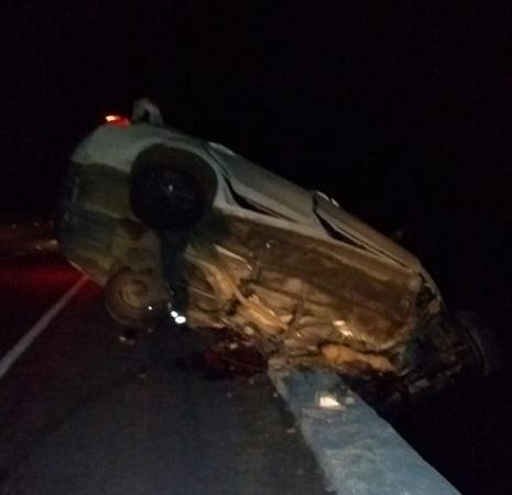 Se accidentan zacatecanos en autopista Aguascalientes-León; un muerto y dos heridos