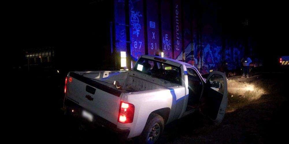 Sujeto se impacta contra la máquina de un tren en San Francisco de los Romo