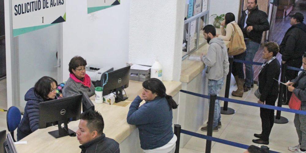 Por temporada decembrina, el Registro Civil atenderá a la población en sus oficialías