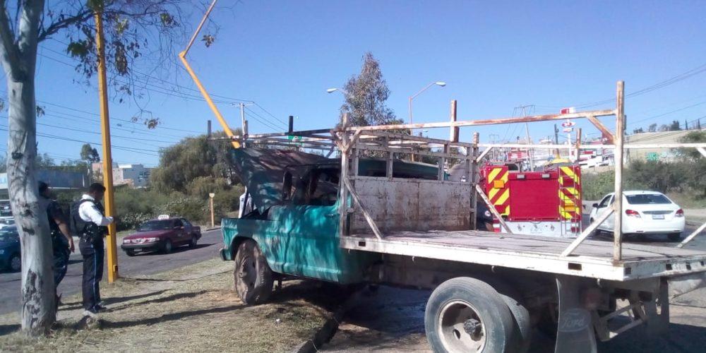 Se registra accidente al oriente de la ciudad de Aguascalientes