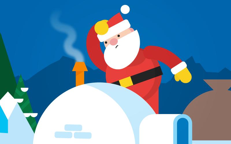 Así puedes ver cómo avanza 'Santa' en tiempo real