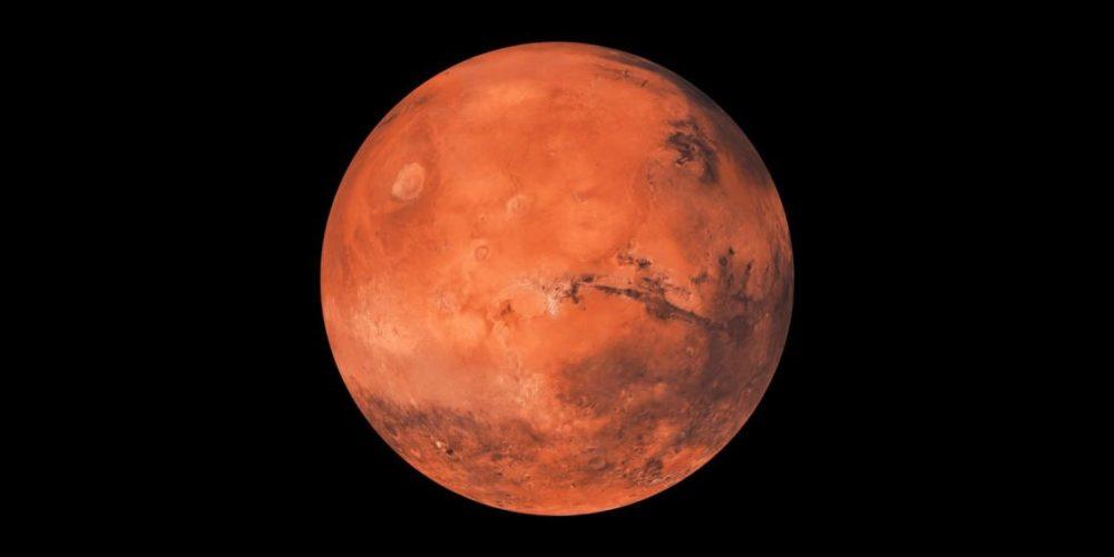 Encuentran agua helada a 2.5 cm de la superficie de Marte