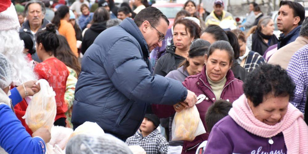 Entregó Sedeso apoyos navideños a familias de Aguascalientes