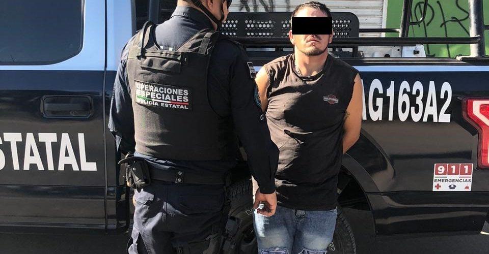 Distribuidor de drogas fue detenido por policías en Aguascalientes
