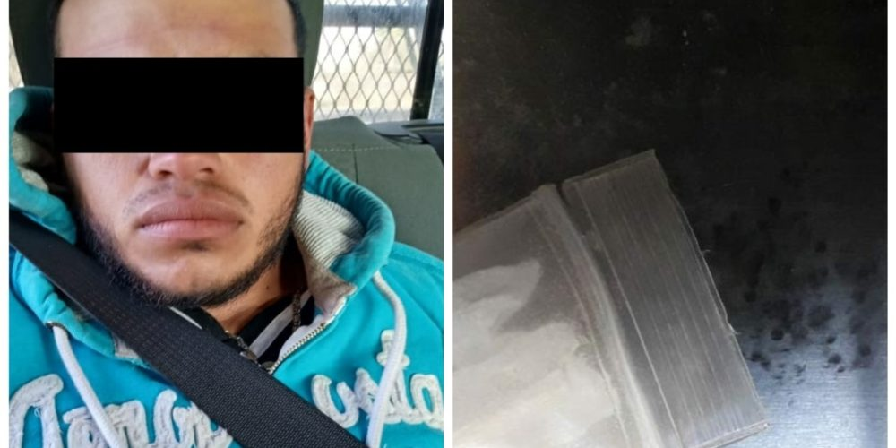Detienen en el municipio de Rincón de Romos a sujeto en posesión de droga crystal