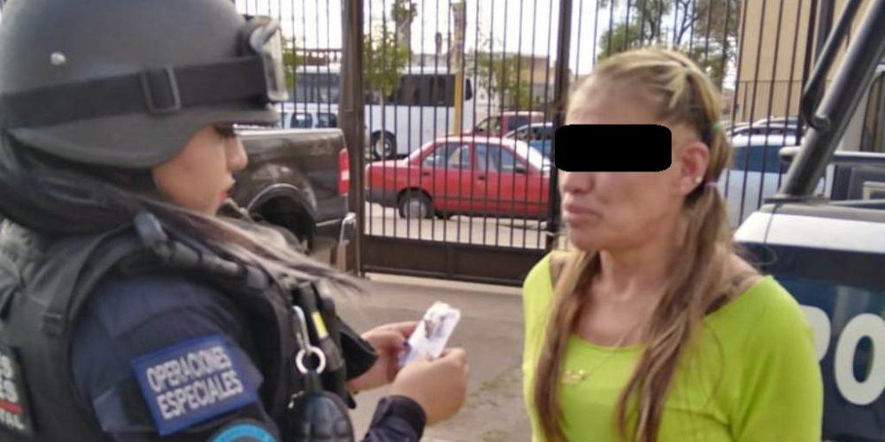 Detienen a María Guadalupe con droga en Aguascalientes