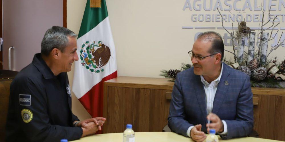 Se reúne MOS con el nuevo titular de la Policía Federal en Aguascalientes