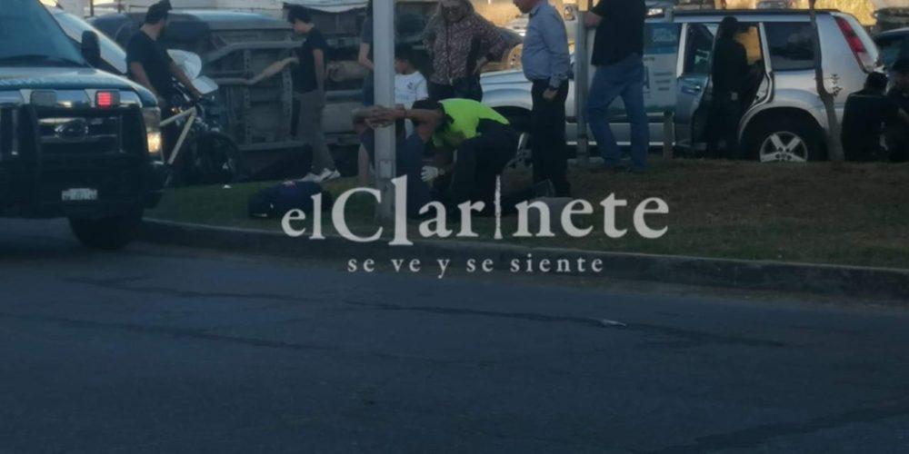 Dos heridos deja choque en Jesús María, Aguascalientes