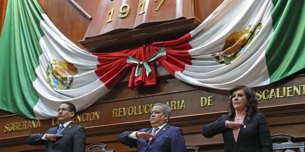 Encabeza Enrique Morán clausura del primer período ordinario de sesiones del Congreso de Aguascalientes