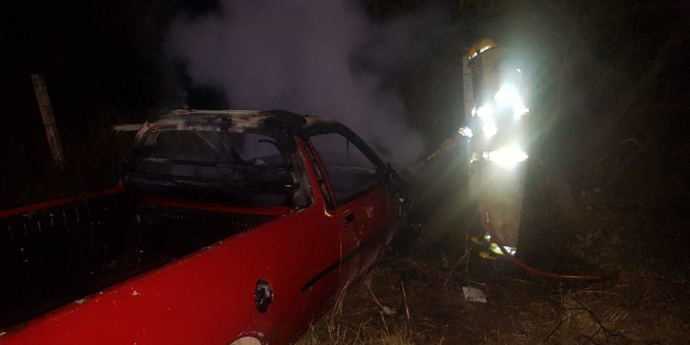 Se incendia camioneta en Jesús María, Aguascalientes