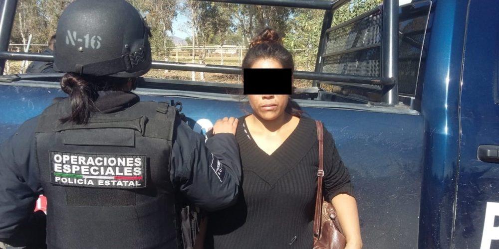 Cae María Fabiola con cristal en su poder en Rincón de Romos, Aguascalientes