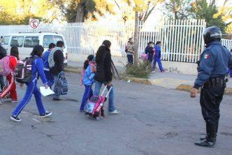 Policía Vial reactiva labores en zonas escolares de Aguascalientes