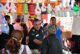 Policía municipal refuerza vigilancia en tianguis