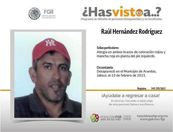 Raúl desapareció en Jalisco, lo buscan en Aguascalientes