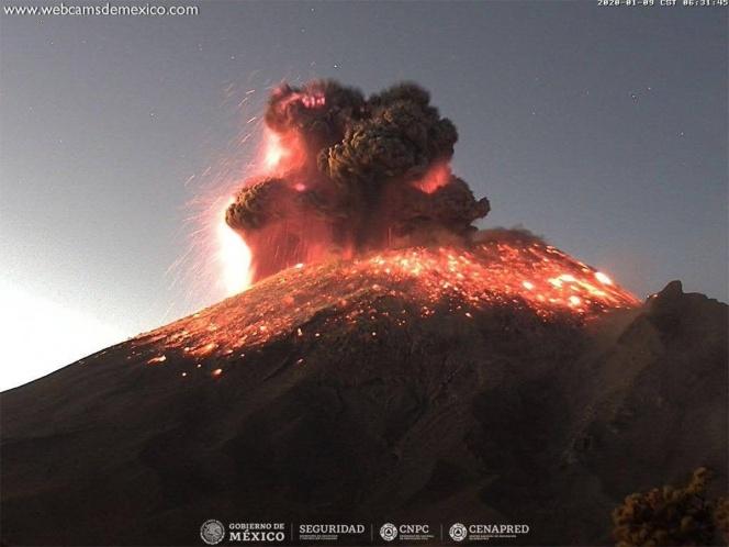 Así fue la impresionante explosión del Popocatepetl