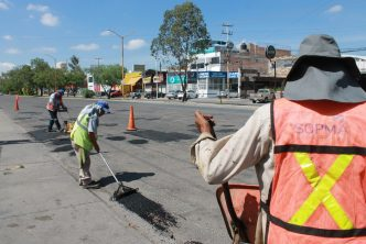 Municipio de Aguascalientes intensifica labores de bacheo