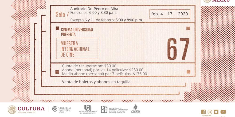 UAA presentará lo mejor del séptimo arte en la 67 Muestra Internacional de Cine