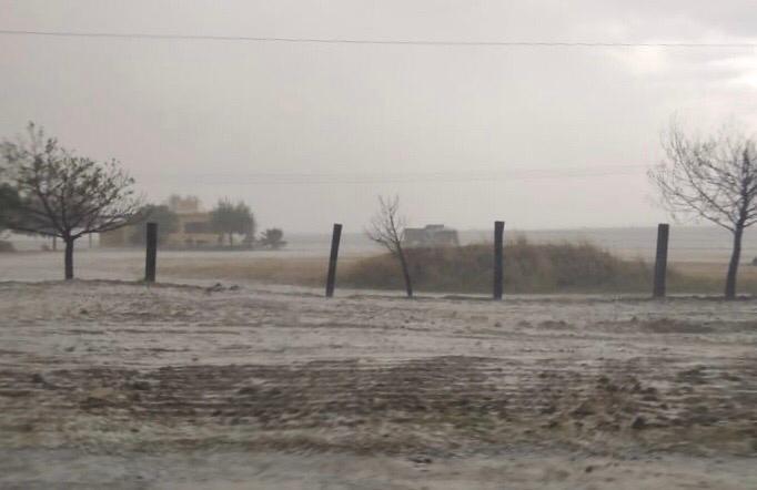 Lluvia y granizo en Aguascalientes
