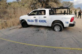 Balacera deja 2 policías muertos y 1 herido en Teocaltiche, Jalisco