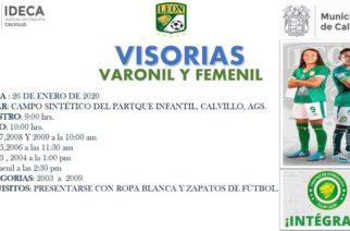 Club León realizará visorias en Calvillo