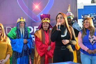 Tere Jiménez compartió la tradicional Rosca de Reyes con miles de familias de Aguascalientes