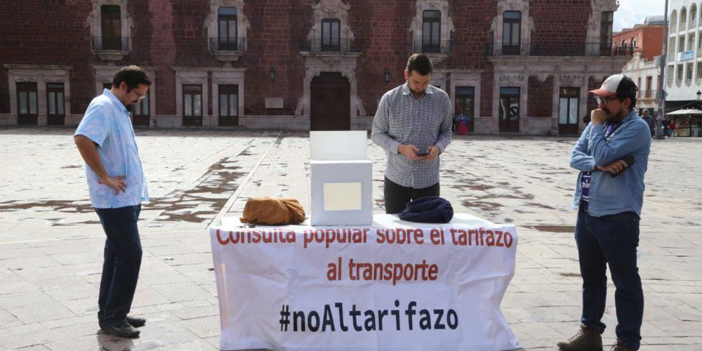 Convocan a rechazar tarifas del transporte urbano en Aguascalientes