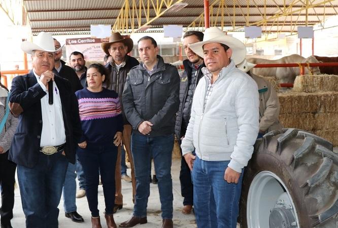 Apoya SEDRAE a productores en Expo ganadera de San José de Gracia